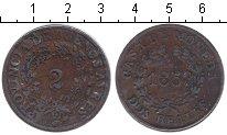 Изображение Монеты Аргентина 2 реала 1853 Медь VF