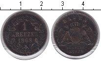 Изображение Монеты Баден 1 крейцер 1868 Медь VF