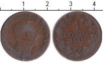 Изображение Монеты Баден 1 крейцер 1852 Медь VF