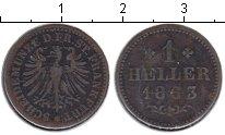Изображение Монеты Франкфурт 1 хеллер 1863 Медь VF