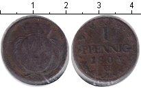 Изображение Монеты Саксония 1 пфенниг 1805 Медь VF