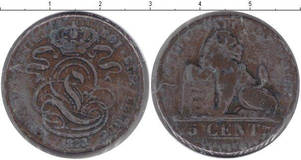 Картинка Монеты Бельгия 5 сентим Медь 1833