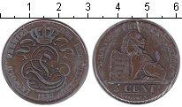 Изображение Монеты Бельгия 5 сентим 1833 Медь XF