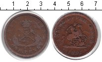 Изображение Монеты Канада 1 пенни 1852 Медь VF