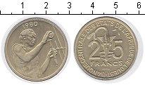 Изображение Монеты Французская Африка 25 франков 1980  UNC-