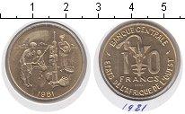 Изображение Монеты Французская Африка 10 франков 1981  XF