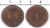 Изображение Монеты Дания 1 скиллинг 1856 Медь XF