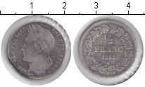 Изображение Монеты Бельгия 1/2 франка 1844 Серебро VF