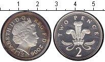 Изображение Монеты Великобритания 2 пенса 2006 Серебро Proof