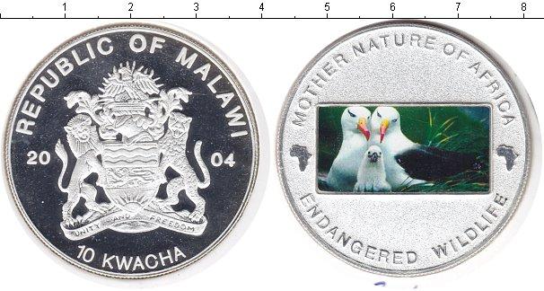 Картинка Монеты Малави 10 квач Посеребрение 2004