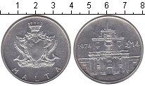 Изображение Монеты Мальта 4 фунта 1974 Серебро UNC- Проба 0.987