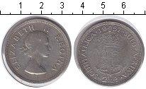 Изображение Монеты ЮАР 2 1/2 шиллинга 1957 Серебро