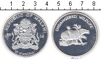 Изображение Монеты Малави 10 квач 2005 Посеребрение Proof-