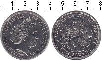 Изображение Монеты Гернси 5 фунтов 2001 Медно-никель UNC
