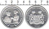 Изображение Монеты Сьерра-Леоне 10 долларов 2006 Серебро Proof