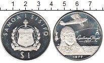 Изображение Монеты Самоа 1 тала 1977 Серебро Proof- Перелёт Линдберга Нь