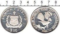 Изображение Монеты Самоа 10 тала 1986 Серебро Proof- Самоанский трубастый