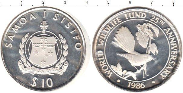 Картинка Монеты Самоа 10 тала Серебро 1986