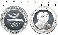 Изображение Монеты Испания 2.000 песет 1990 Серебро Proof Барселона 1992. Симв
