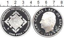 Изображение Монеты Испания 2000 песет 1999 Серебро Proof
