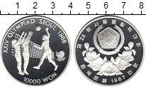 Изображение Монеты Южная Корея 10000 вон 1987 Серебро Proof