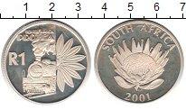 Изображение Монеты ЮАР 1 ранд 2001 Серебро Proof- Туризм: протея - пар