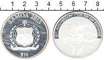 Изображение Монеты Самоа 10 долларов 2013 Серебро Proof
