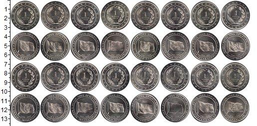 Изображение Наборы монет Турция 1 куруш 2015 Медно-никель UNC- В наборе 16 монет но
