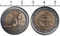 Изображение Монеты Словакия 2 евро 2014 Биметалл UNC- 10 лет вступлению Ре