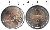 Изображение Монеты Испания 2 евро 2007 Биметалл XF 50 лет Римскому дого