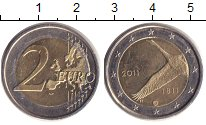 Изображение Монеты Финляндия 2 евро 2011 Биметалл XF 200 лет банку Финлян