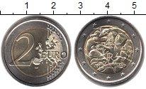 Изображение Мелочь Италия 2 евро 2008 Биметалл UNC-