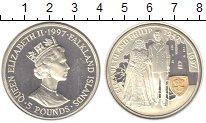 Изображение Монеты Фолклендские острова 5 фунтов 1997 Серебро Proof-