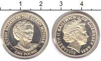 Изображение Монеты Гернси 1 фунт 1999 Серебро Proof-