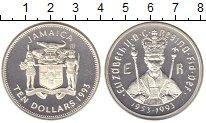 Изображение Монеты Ямайка 10 долларов 1993 Серебро Proof-