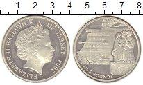 Изображение Монеты Остров Джерси 5 фунтов 2004 Серебро Proof-