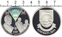 Изображение Монеты Кирибати 10 долларов 2011 Серебро Proof-