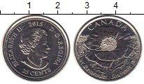 Изображение Мелочь Канада 25 центов 2015 Медно-никель UNC- Елизавета II. Цветок