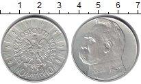 Изображение Монеты Польша 10 злотых 1936 Серебро XF Пилсудский