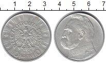 Изображение Монеты Польша 10 злотых 1935 Серебро XF Пилсудский