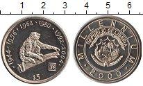 Изображение Мелочь Либерия 5 долларов 2000 Медно-никель UNC Миллениум — Тысячеле
