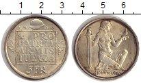 Изображение Монеты Швейцария 5 франков 1936 Серебро XF Фонд вооружения Конф