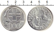 Изображение Монеты Сан-Марино 5000 лир 1998 Серебро XF