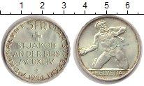 Изображение Монеты Швейцария 5 франков 1944 Серебро XF