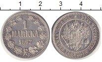 Изображение Монеты Финляндия 1 марка 1867 Серебро VF Финляндия в составе
