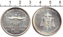 Изображение Монеты Ватикан 500 лир 1978 Серебро UNC- Седе Ваканте