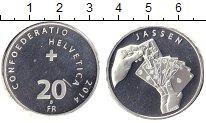 Изображение Монеты Швейцария 20 франков 2014 Серебро XF Карточная игра