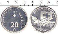 Изображение Монеты Швейцария 20 франков 2016 Серебро Proof