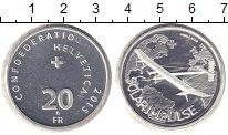 Изображение Монеты Швейцария 20 франков 2015 Серебро Proof Солнечный импульс