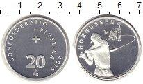 Изображение Монеты Швейцария 20 франков 2015 Серебро XF Хорнуссен